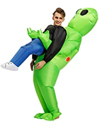 Adults Inflatable Halloween Costumes Blow Up Alien Costume for Halloween, Christmas, Festivals, Birthday Party