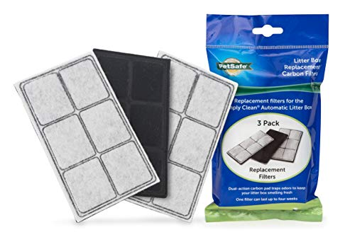 PetSafe Litter Box Replacement Carbon Filters, 3-Pack, for Use Simply Clean Automatic Cat Litter Box