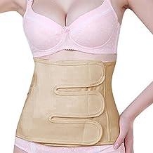 Goege Soft Comfortable Cotton Velcro Postpartum Postnatal Recoery Support Girdle Belt Belly in Corset Belt Cesarean Section Belt for Women Maternity,Size M(72-102CM)