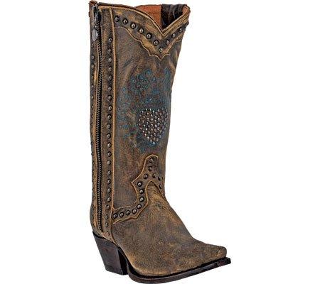 Dan Post Women's Heart Breaker Western Boot, Brown, 6 M US