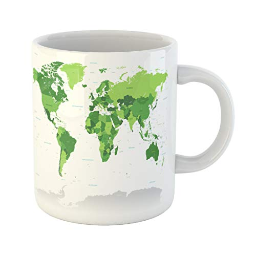 Semtomn Funny Coffee Mug High Detail Map of