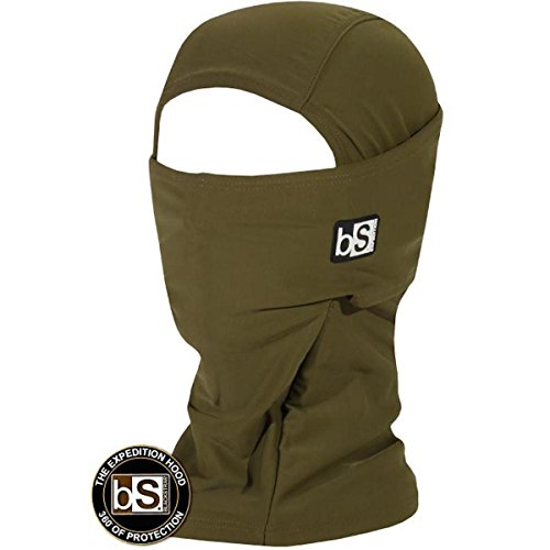 Blackstrap Hood Facemask Olive Mens One Size from BlackStrap