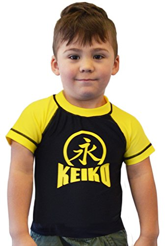 KEIKO SPORTS NEW Kids Comp Team Rashguard - Yellow - 14