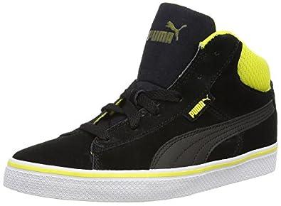 puma unisex black 1948 mid vulc perf casual shoes