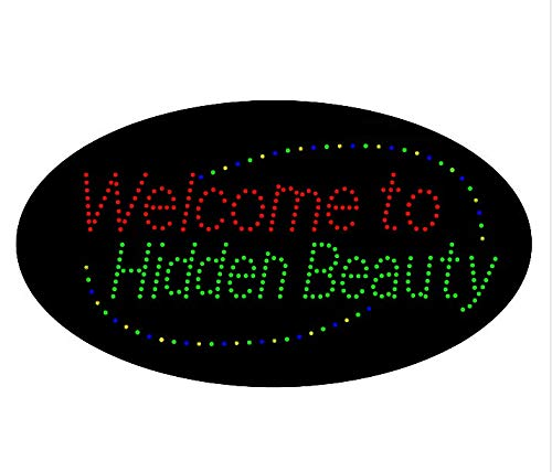 LED Welcome to Hidden Beauty Open Light Sign Super Bright Advertising Display Board for Eyebrow Lash Microblading Spa Business Shop Store Window Bedroom Decor 27 x 15 inches by HIDLY (Image #3)