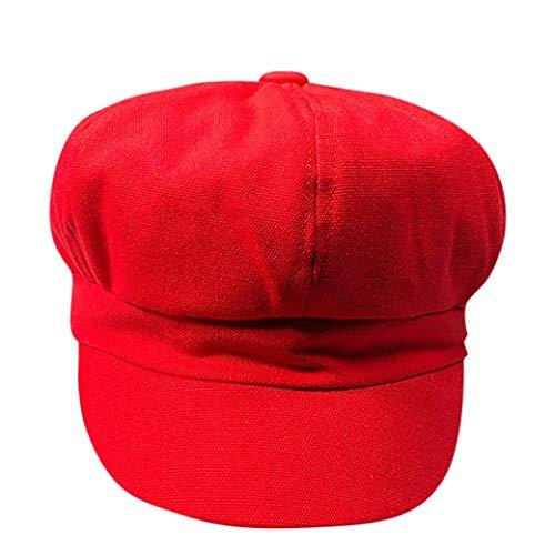 Suma-ma 6 Colors Women Casual -Solid Color Octagonal Beret- Baseball Caps ()