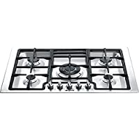 Smeg PGFU30 X 30 Classic Gas Cooktop with 5 Gas Burners, Stainless Steel