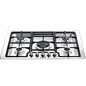 "Smeg PGFU30X 30"" Classic Gas Cooktop with 5 Gas Burners, Stainless Steel 5"