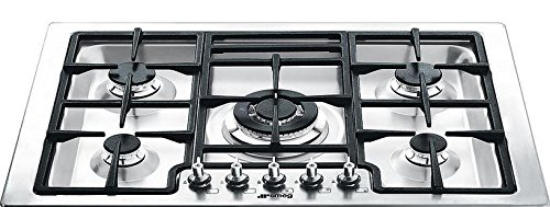 Smeg PGFU30X 30u0026quot; Classic Gas Cooktop With 5 Gas Burners, Stainless  Steel