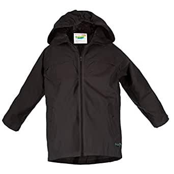 Splashy Nylon Children's Rain Coat - Black - 2T