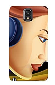 Hot Snap-on Woman With Headphones Hard Cover Case/ Protective Case For Galaxy Note 3