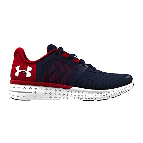 sale retailer 4c240 83d80 Under Armour Boys UA BGS Micro G Fuel RN, Midnight Navy/Red/White, 6.5