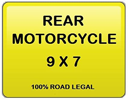 Number Plate Registration Plate Motorcycle 7x9 Free Post and Free Adhesive Pads