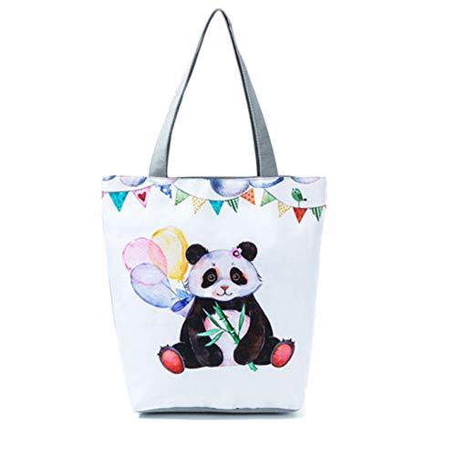 de Bolso Print de animados cuadrado mujer hombro dibujos para Majome Panda lindo Bolso Vertical 4 RFCqx