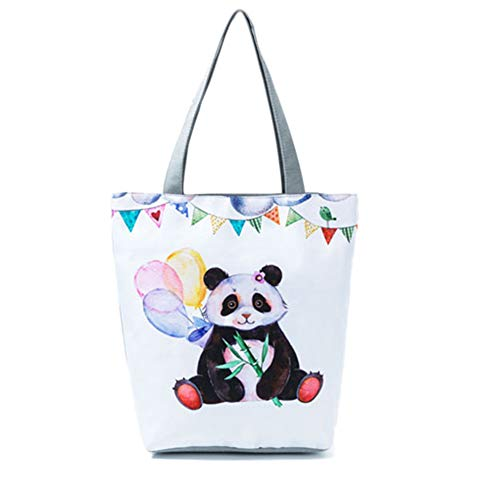 animados Bolso Panda para cuadrado 4 Bolso de mujer lindo Vertical de hombro Print dibujos Majome APqpzwKP