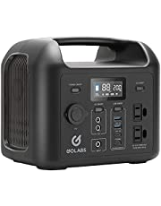 GOLABS Portable Power Station, 299Wh LiFePO4 Battery Backup, PD 60W Type-C Quick Charge, 300W Pure Sine Wave AC Outlet Solar Generator Power Supply for Outdoor Camping Fishing Travel Emergency CPAP