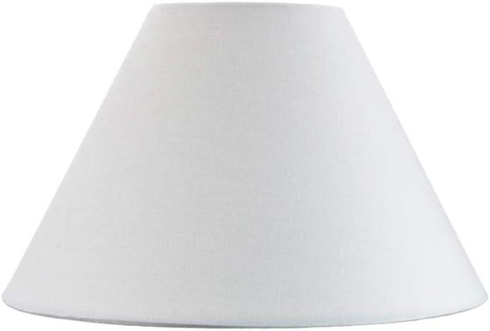 Abat-jour de Coolie en coton blanc traditionnel de 14 appropri/é pour lampe de table ou suspension par Happy Homewares