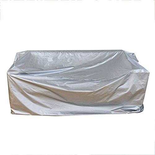 ファニチャー カバー ガーデン籐家具カバー家具オックスフォード布防水リップ耐性オックスフォード布 シバオ (Color : Silver, Size : 308X138X98CM)