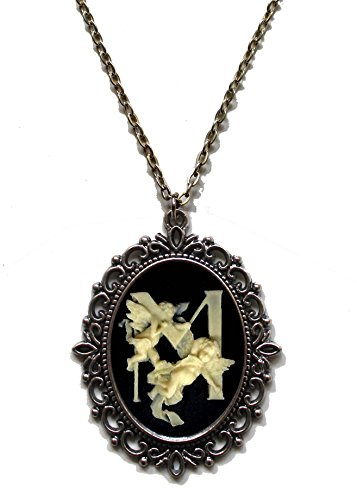 H&m Ballet Costume (Victorian Vault Letter Initial Alphabet Black & Ivory Cameo Pendant on Chain (Letter M))