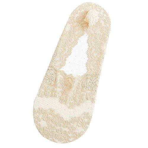 Chaussettes Sagton® Women Liner Invisible Lace Chaussettes Antidérapantes Antidérapantes