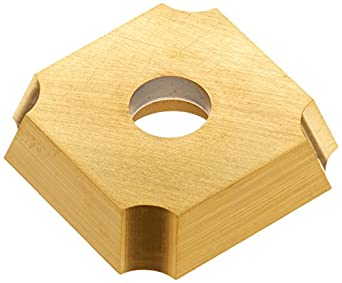 """Dorian Tool SDGX Multilayer Coated Carbide Square Convex Milling Indexable Insert, 0.1094"""" Nose Radius, 3/4"""" Insert, 3/16"""" Thick (Pack of 10)"""