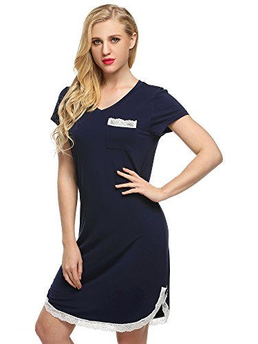 Ekouaer Womens Nightshirts Viscose Sleepwear product image