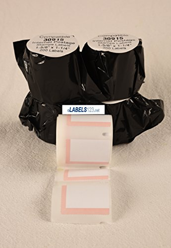Labels 30915 for Shipping and Postage USPS Endicia Dymo LabelWriter  Compatible 4 Rolls