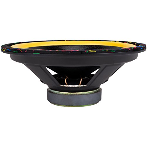 Factory Buyouts Titan 10'' Black Glitter Cone Yellow Surround Speckled Gasket Woofer 4 Ohm by Factory Buyouts
