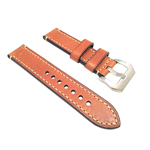 W&S 2-Piece Leather Watch Strap - Light Brown | 24mm