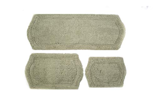 (Chesapeake Paradise 3 Pc. Memory Foam Sage Bath Rug Set 43261 (22