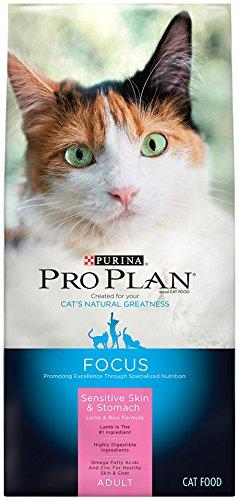 Purina Pro Plan Croquettes pour chat, Mise au point, Adulte peau sensible et Estomac Formule Agneau et riz, 16-Pound Bag, 1er Pack