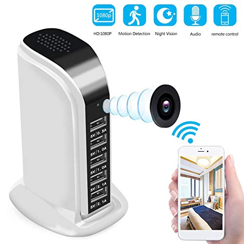 Spy Camera WiFi 1080P HD – Hidden Camera Wireless Hidden and Motion Detection Mode Mini Camera for Your Home and Office (White)