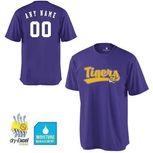 e207ce583 Amazon.com   CUSTOM LSU Tigers NCAA Officially Licensed Cool-Base Replica  Jersey Shirts (3 Styles
