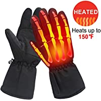 Men Woman Electric Gloves with 3.7V Rechargeable Battery Thermal Heated Gloves for Men Women Perfect for Walking/Hiking/Sleeping/Riding