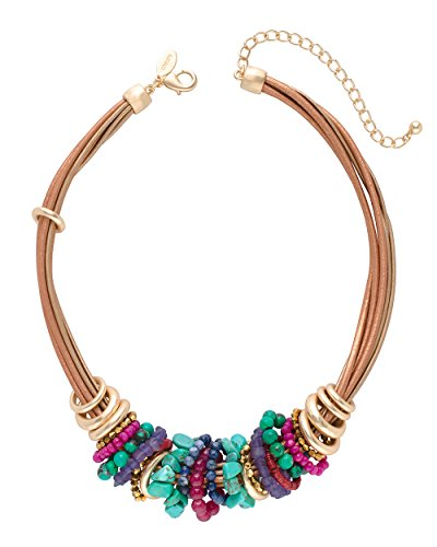 Chicos Womens Multi Colored Beaded Short Collar Necklace