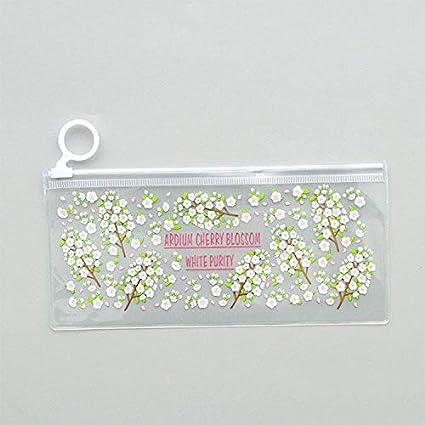 ASCZFAS bolsa de lápiz Misteriosas flores pequeñas animales PVC a prueba de agua estuches de lápices Papelería Almacenamiento Oficina Útiles escolares Bolsas de lápices para niñas D: Amazon.es: Oficina y papelería