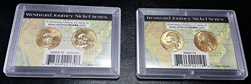 Unbranded LOT OF 2 SETS OF WESTWARD JOURNEY GOLD PLATED NICKEL SERIES WHITMAN CASES