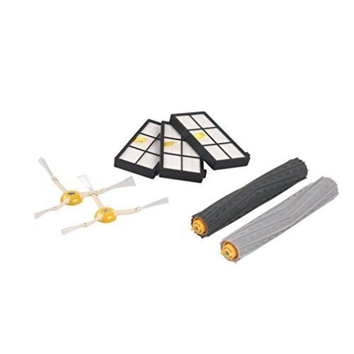Paymenow Vacuum Cleaner Replacement Parts Accessories Kit with 3 Hepa Filter, 2 Side Brush, 1 Tangle-Free Debris Extractor for iRobot Roomba 800/900 series 870 880 980 (Virtual Wall Scheduler)