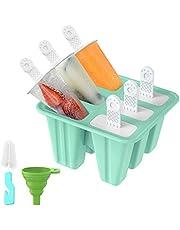 IINDES Ijslolly mallen voor kinderen Siliconen Popsicle mallen Set Ijslolly Makers BPA Gratis Ijs mallen met Borstel en Siliconen vouwen trechter