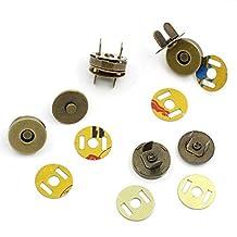 CHENGYIDA 50 Sets Magnetic Buttons Purse Snap Clasps/Closure for Purse Handbag Bronze Tone 14mm
