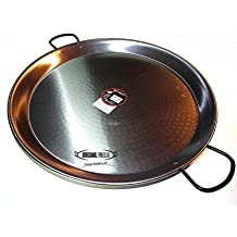 Polished Steel Paella Pan 70cm Paellera Valencian by Original Paella