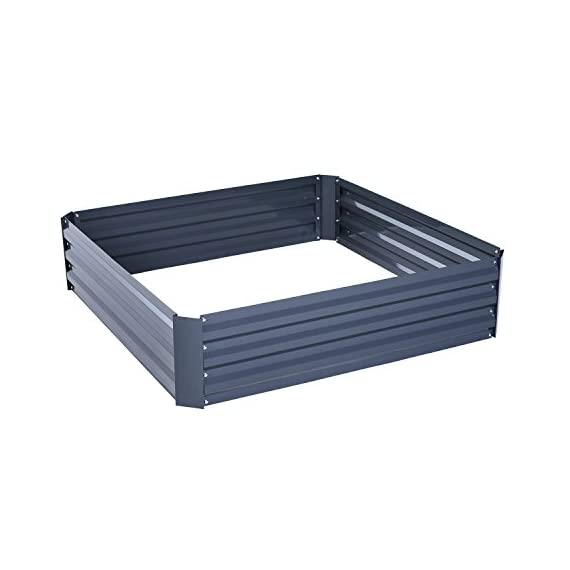 Outsunny Galvanized Metal Raised Garden Bed 1 ✅The best and easiest way to grow your own garden at home ✅Solid metal construction with anti-rust coating for long-time use ✅Extra deep design makes it perfect for long rooted plants