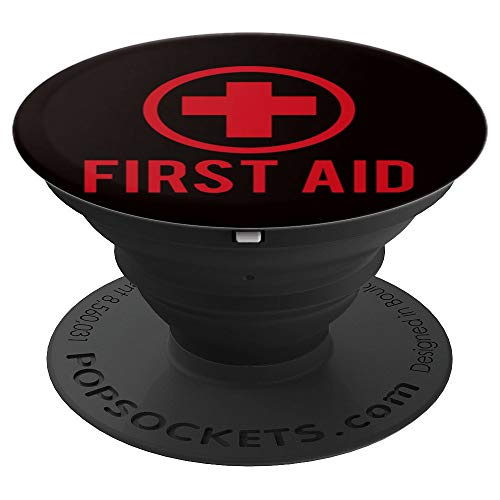 First Aid Shirt Halloween Outfit Gift Paramedic Costume PopSockets Grip and Stand for Phones and Tablets]()