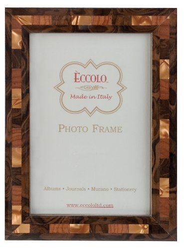 Eccolo Made in Italy Marquetry Wood Frame, Opalescent Tan, H