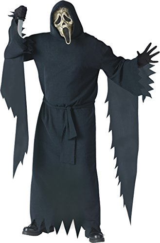 Collector's Edition Zombie Ghost Face Adult Costume - Plus (Mens Plus Size Ghost Face Costumes)