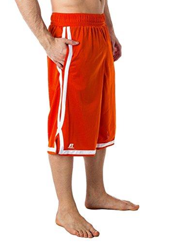 Men's Russell Athletic Basketball Mesh Shorts Orange S
