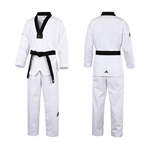 Noir Dobok Col White V Aditf02 Adidas Fighter W black neck dtqRB