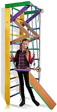 Escalera Sueca Barras de Pared Sport-3-240 - Amarillo, Gimnasia de los niños en casa, Complejo Deportivo de Gimnasia: Amazon.es: Juguetes y juegos