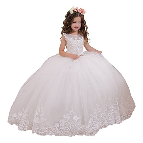 Lilis Flower Girls Prom Dresses Vintage Lace Embellished Girls Communion Dresses 2-12 Year Old: Amazon.co.uk: Clothing