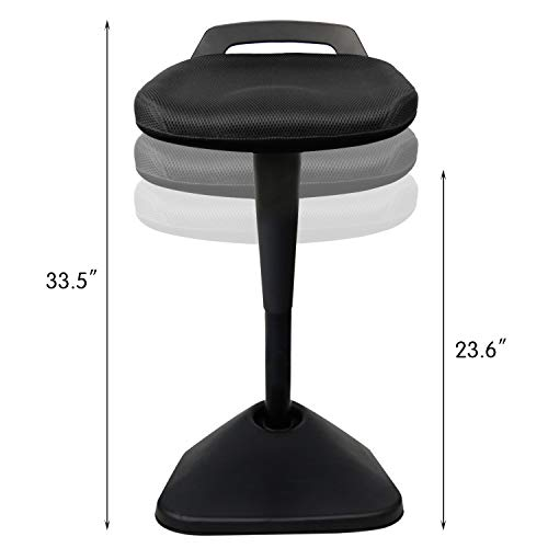 AIMEZO Sit Stand Desk Stool - 360° Swivel Seat Standing Desk Chair with Adjustable Height Active Sitting Balance Chair by AIMEZO (Image #3)